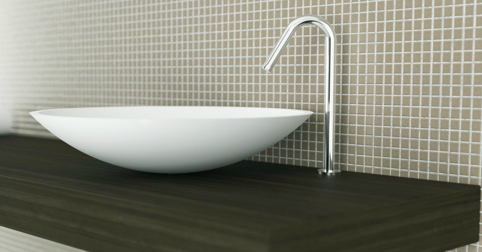 Corian bathroom countertops - Moma Design Elipse Cuvette Washbasin